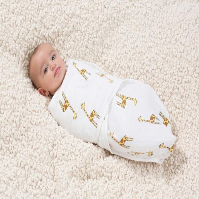 Пеленка для пеленания на кнопках из муслина aden+anais Jungle Jam Giraffe