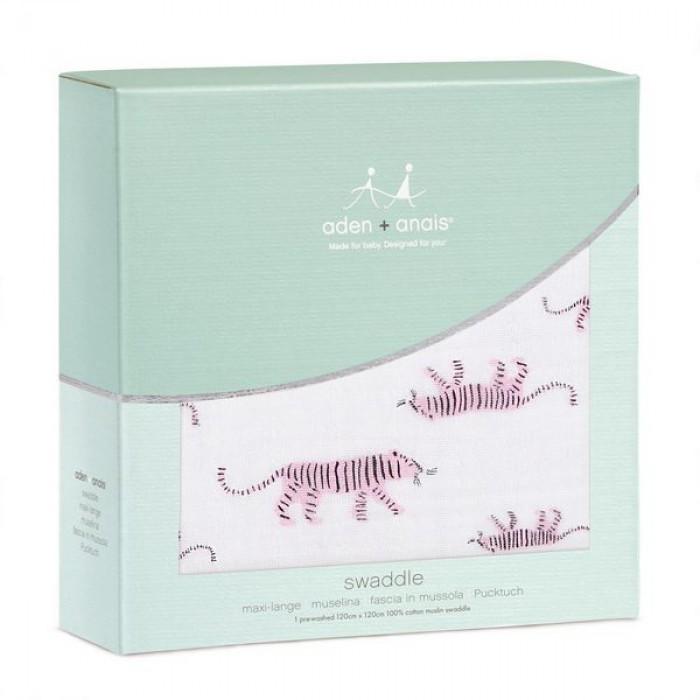 Пеленка из муслинового хлопка pink tigers аden+аnais