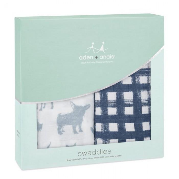 Набор из 2-х муслиновых пеленок из лимитированной коллекции Waverly pup