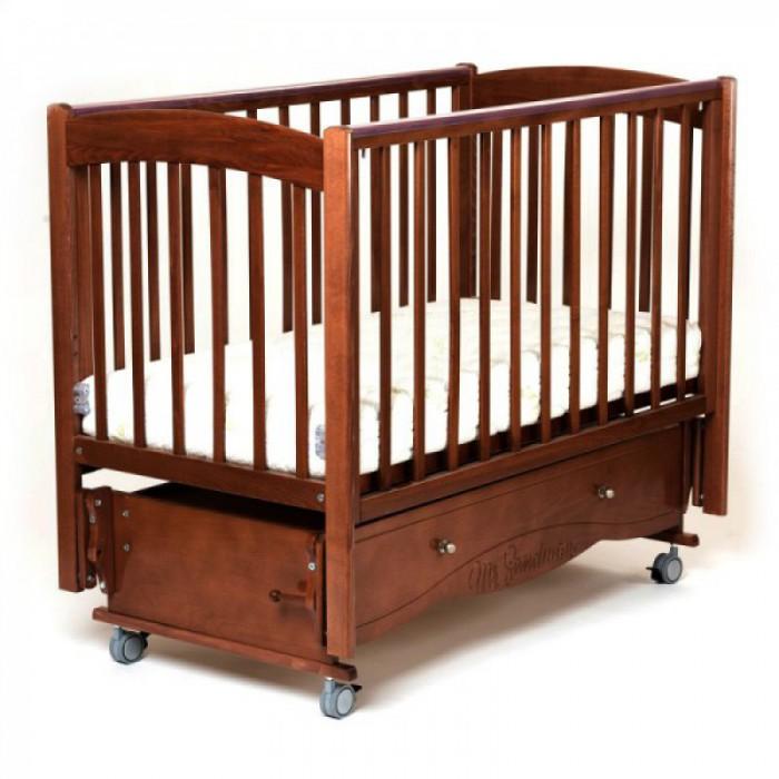 Детская кроватка универсальный маятник Pocket с колесами