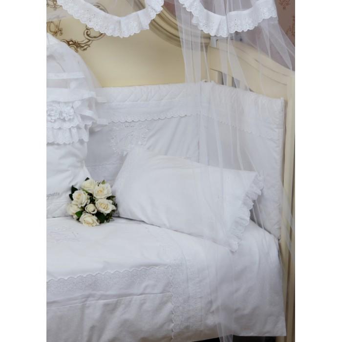 Комплект в кроватку 6 предметов Акварель белый 100.1.28