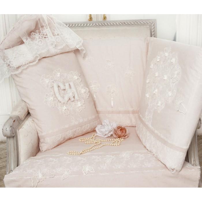 Комплект в кроватку с кружевами и бабочками 150.38