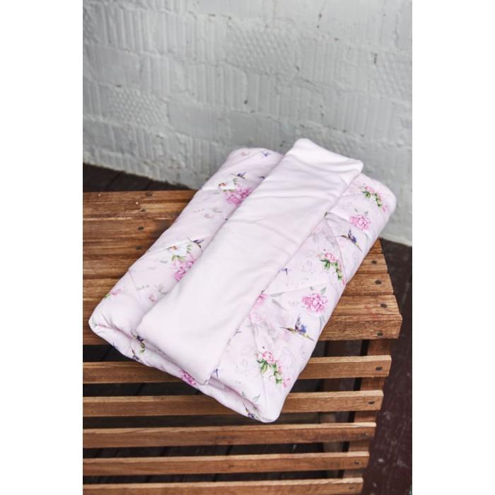 Плед трикотажный с цветочным приятом для девочки 454.07