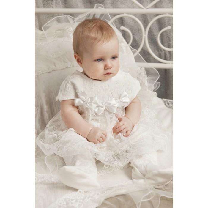 Платье кружевное в комплекте с ползунками 91.1.43