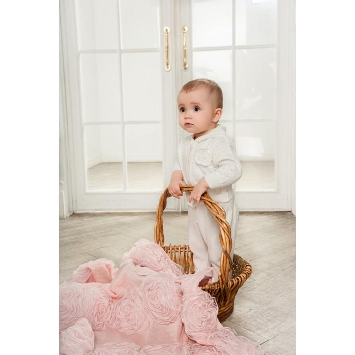 Комбинезончик вязаный с вышивкой Фламинго 30.1.50