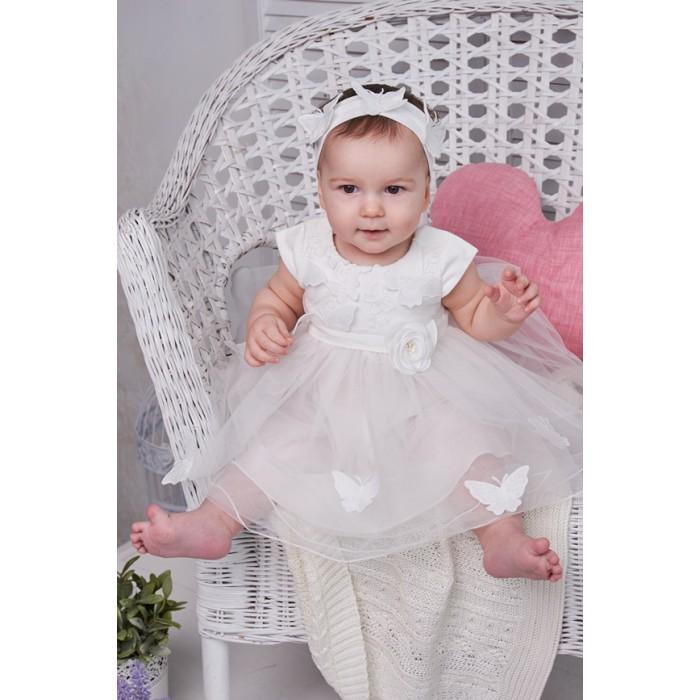 Нарядное платье с вышитыми бабочками 426.43
