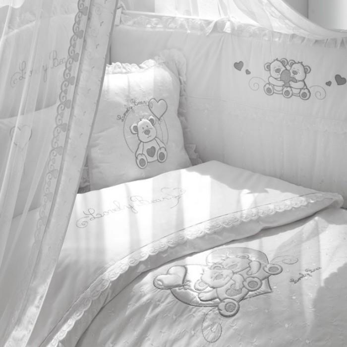 Комплект в кроватку Funnababy Lovely Bear white 140х70