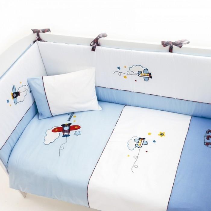 Комплект в кроватку 5 предметов Funnababy Pilot 120x60
