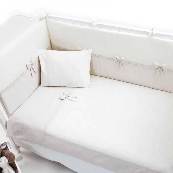 Комплект в кроватку Funnababy Premium Baby Cream 125х65