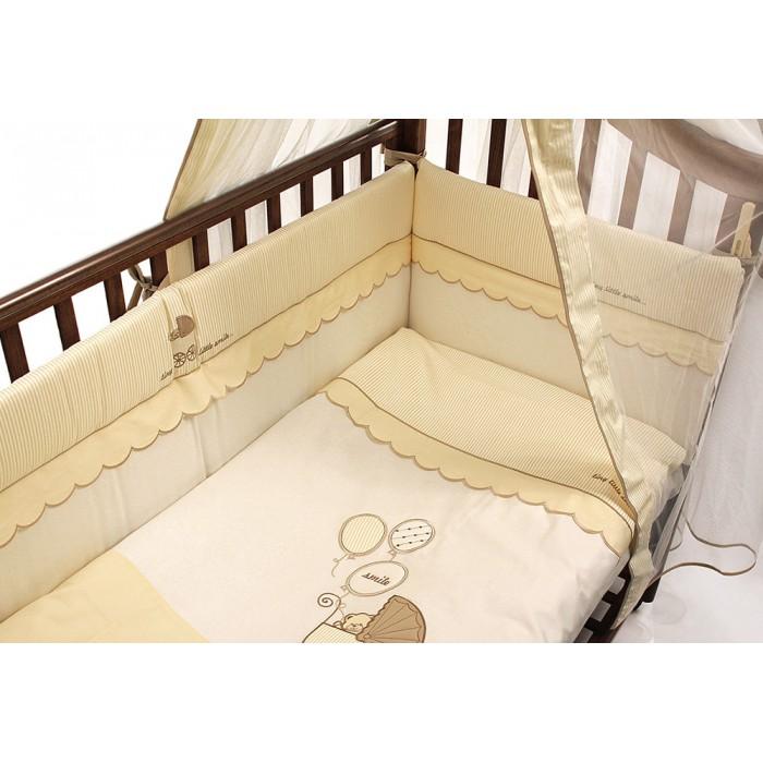 Комплект в кроватку 5 предметов Funnababy Smile 120x60