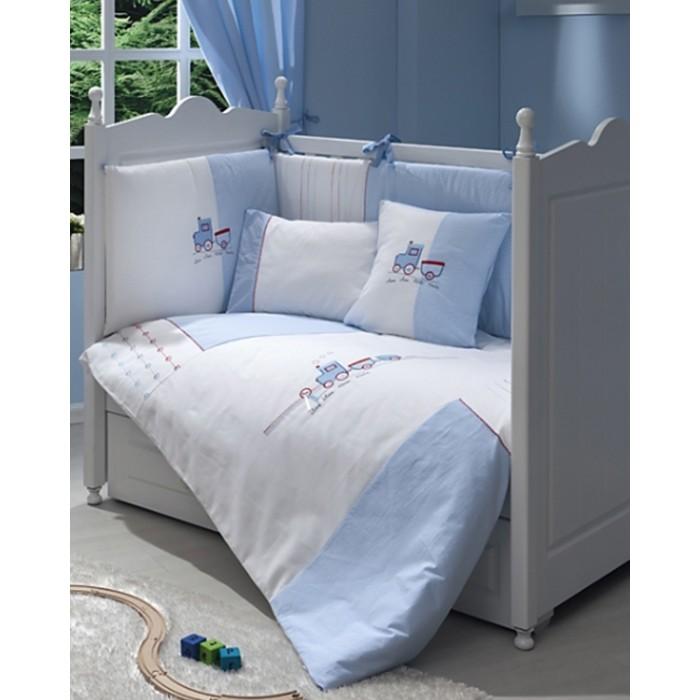Комплект в кроватку 5 предметов Funnababy Train 120х60