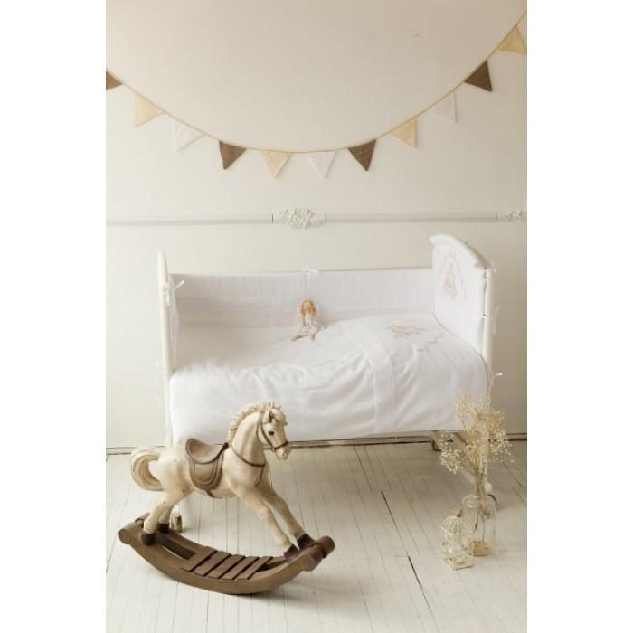 Комплект в кроватку 6 предметов Lappetti Инфанты 6001