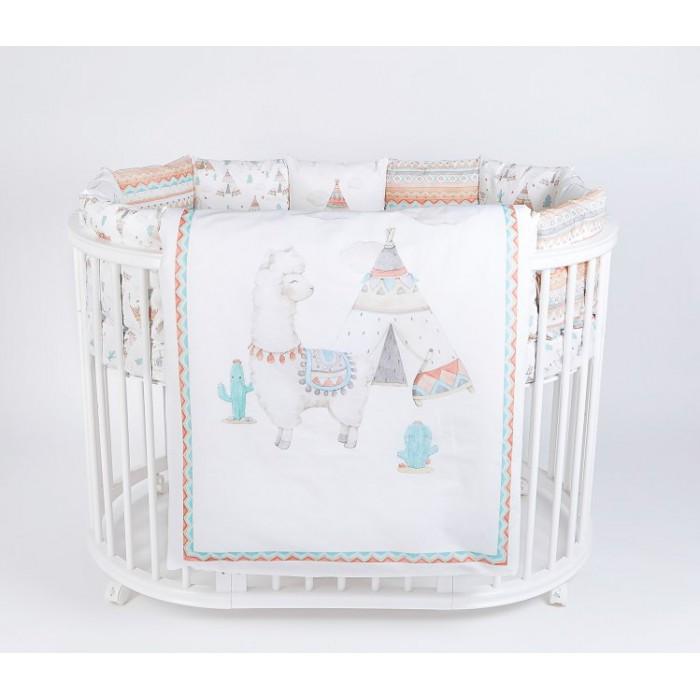 Комплект в кроватку 6 предметов Ламы арт.6088