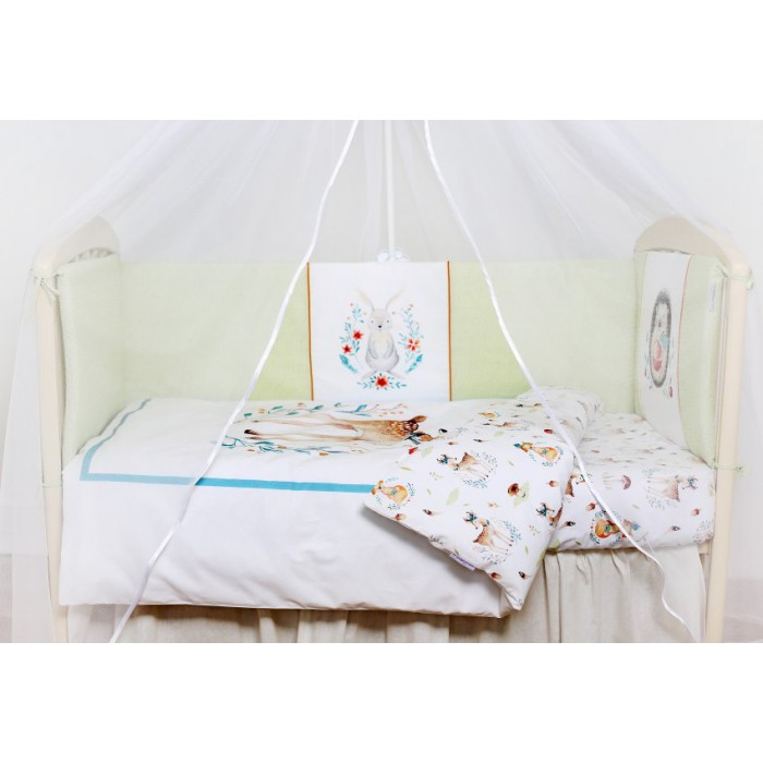 Комплект в кроватку 6 предметов Волшебный лес арт.6074