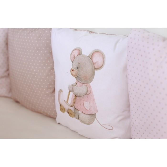 Комплект в круглую кроватку Little mouse арт.6070