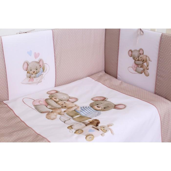 Комплект в кроватку 6 предметов Little mouse арт.6071