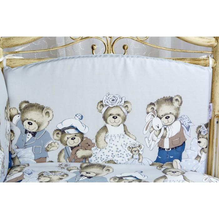 Комплект в кроватку 6 предметов Мишкины игрушки 6023