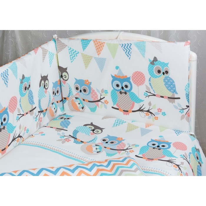 Бортик для кроватки Rabby-baby Совушки