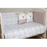 Комплект в кроватку 6 предметов Lappetti Скандинавия арт.6059