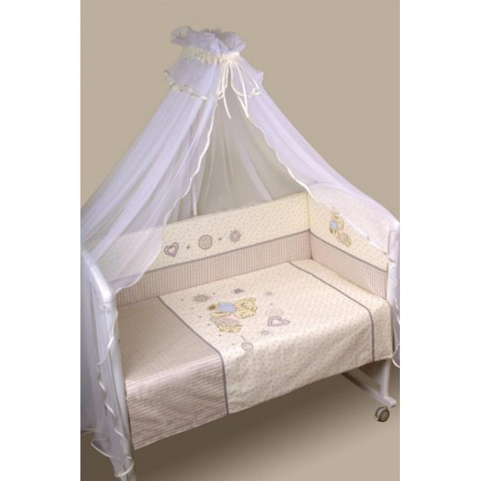 Комплект в кроватку 6 предметов Lappetti Тедди