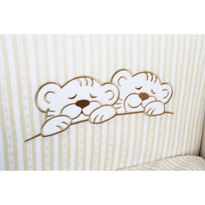 Комплект в кроватку 6 предметов Lappetti Тигрята