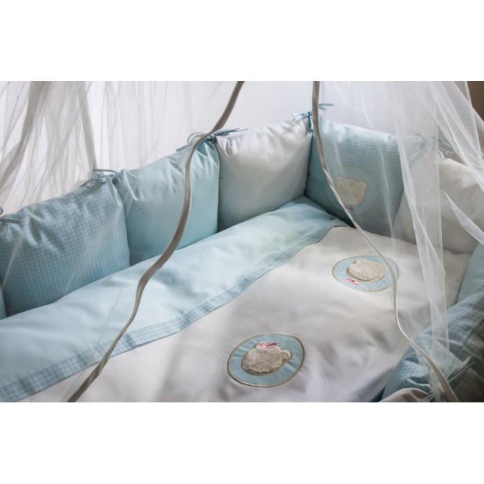 Комплект в кроватку Мишкина семейка 6 пр.+наматрасник