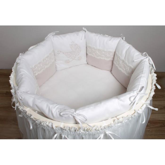 Комплект Колясочка в круглую кроватку+наматрасник