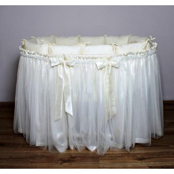 Подзор (юбка) с бантами на кроватку арт. В2
