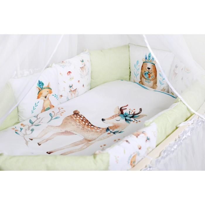 Комплект в кроватку 6 предметов Волшебный лес арт.6073