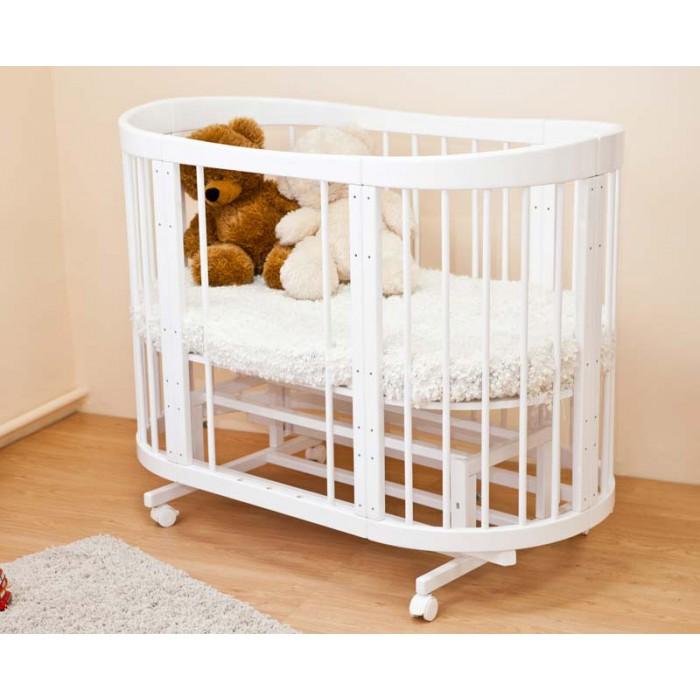 Круглая детская кроватка-трансформер Паулина С 322