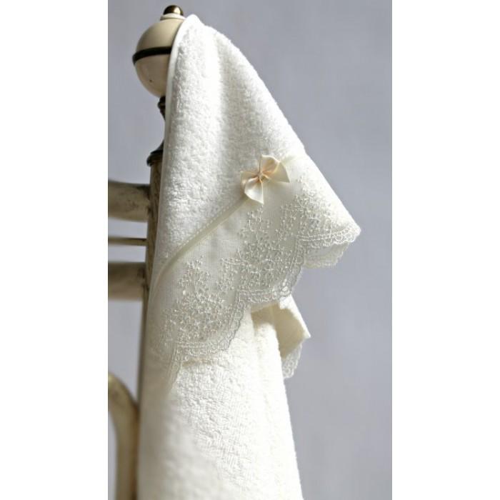 """Махровая пеленка-полотенце с уголком """"Бантик"""""""