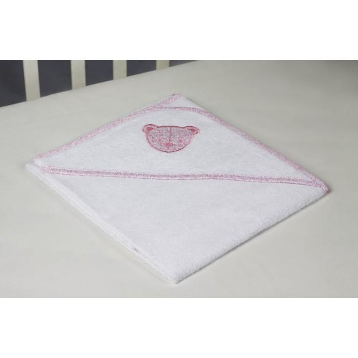 Махровая пеленка-полотенце с уголком Мишка