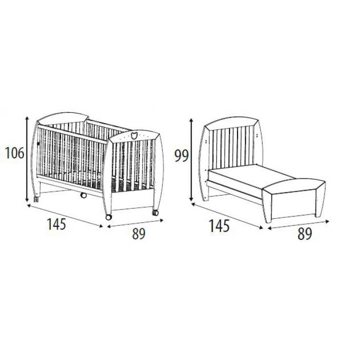 Детская кроватка Micuna Valeria Relax Big 140х70