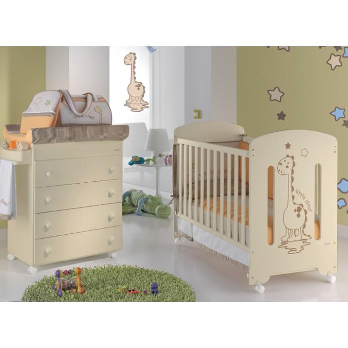 Кровать Micuna Dinus Ivory 120x60 + Матрас CH-620
