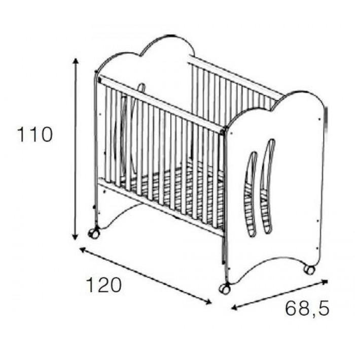 Детская кроватка  Micuna Aura 120x60