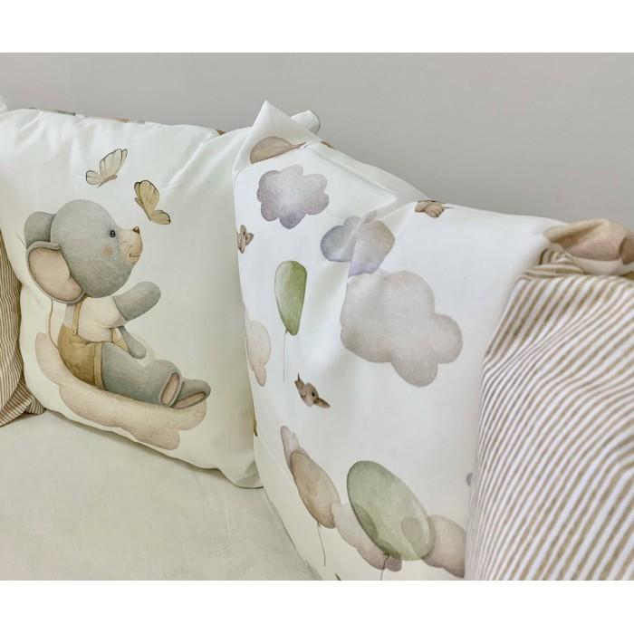 Комплект 6 пр. Шарики в круглую кроватку