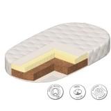 Матрас закругленный bio natur для кроватки Паулина 125х65х12 см