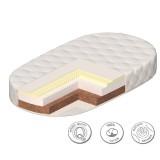 Матрас закругленный Comfort Plus для кроватки Паулина 125х65х14 см