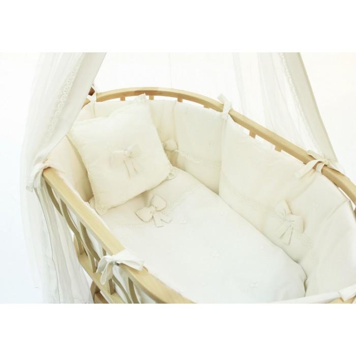 Комплект для колыбели Fiorellino Berlin Premium Baby крем + матрасик