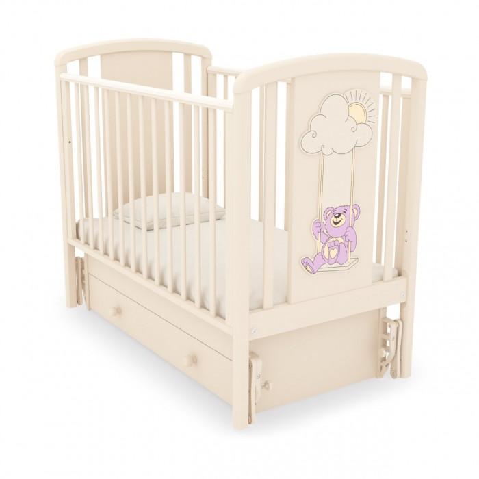 Детская кроватка с универсальным маятником Жаклин (Мишка на качелях)