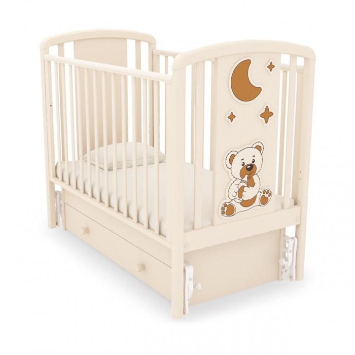Детская кроватка с универсальным маятником Жаклин (Мишка с соской)