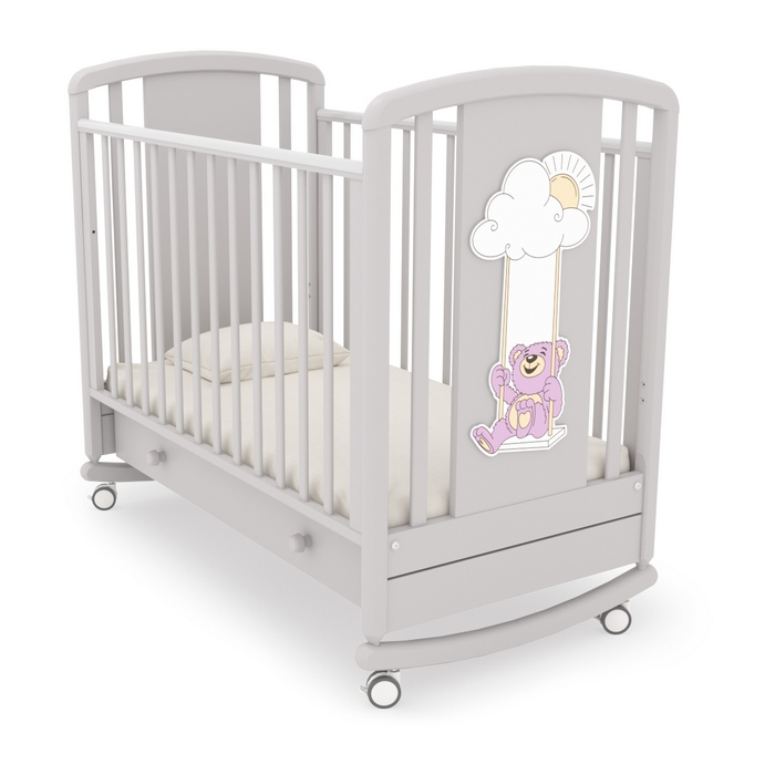 Детская кроватка Angela Bella Жаклин мишка на качелях
