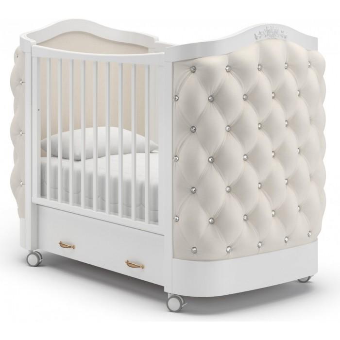 Детская кроватка на колесах Гандылян Тиффани стразы