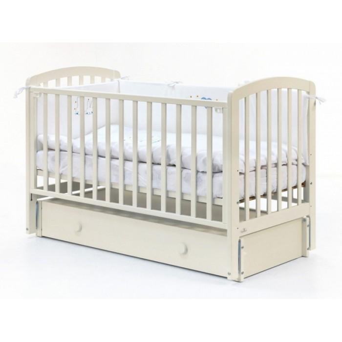 Детская кроватка 120x60 Fiorellino Tina маятник продольный